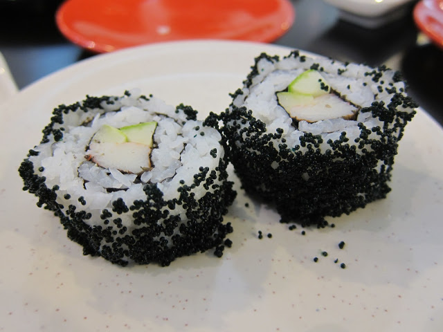 Another Western-type roll with black roe