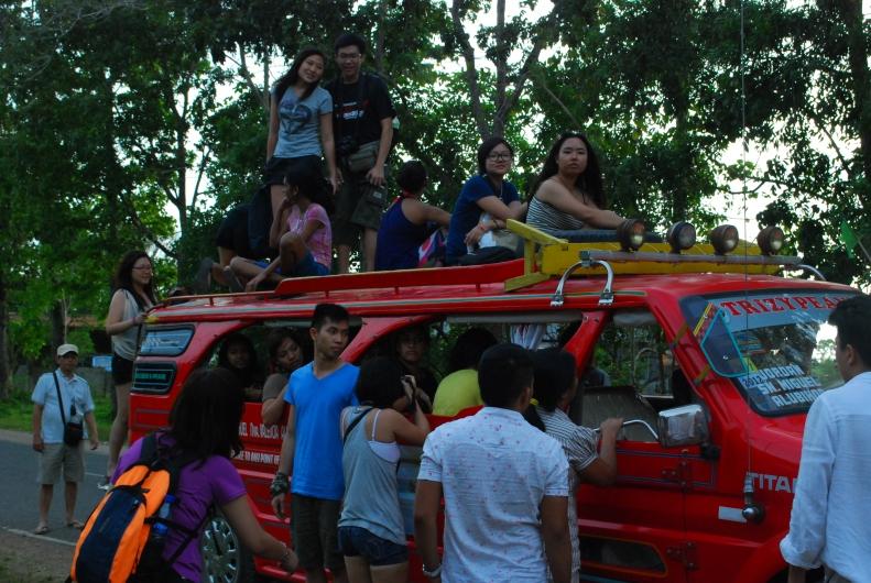 on jeepney