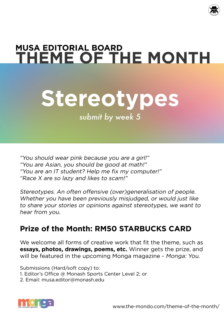 theme of the month stereotypes monga monthly4 stereotypes ""